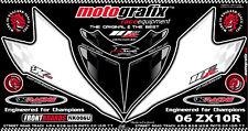 Kawasaki Ninja ZX10R 06 - 07 Front Fairing Number Board Motografix Gel Protector
