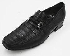 Men's Genuine Authentic Black Crocodile Loafers Dress Shoe (EE) Width