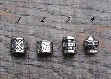 Stainless Steel Dreadlock Beads dread / hair / braid / beard beads - 4 styles