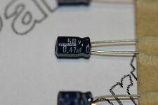 10x 0.47uF 50V Capacitor Rubycon Radial Aluminium Electrolytic MS7