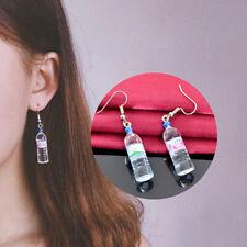 Creative Mineral Water Bottle Earrings Long Beer Bottle Pendant Earrings SRWK