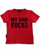 Darkside My Dad Rocks Baby Kleinkind Kinder Children T-Shirt Rot 5002