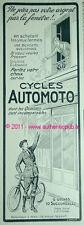 BICYCLETTES CYCLES AUTOMOTO ancienne publicite 1921 PUB