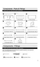 Spare Parts For HOME 3m x 6m Gazebo Catalogue No 790/4312