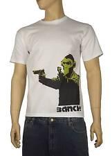 Banksy PISTOLA Monkey T-Shirt-Graffiti Chimp SCIMPANZE' - Dimensioni ridotte per 3XL
