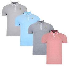 Kangol Men's Cotton Pique Polo Shirt Jersey Top T-shirt Navy Grey Red Marl New