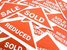 Property Etiquetas Rojo Grande Triángulos Inmuebles & Alquileres Agentes