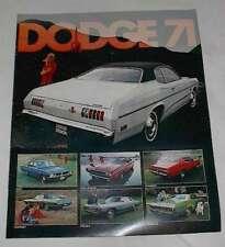 NOS OEM 1971 Dodge New Car Sales Brochure Demon Plum Crazy Challenger R/T !!!