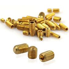 Brass Grub Screw M3 M4 M5 M6 Point Cup Hex Socket Screws 4mm-12mm GB/T Hex Screw