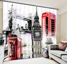 3D Big Ben 98 Blockout Photo Curtain Printing Curtains Drapes Fabric Window CA