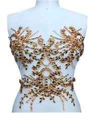 Bling Tanzend Abendkleid Applikation Blumenmuster Strass Kostüm Motiv 1 Teilig