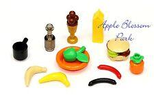 NEW Lego Minifig PICNIC FOOD -Minifigure Kitchen Milk Apple Hotdog Ice Cream Pan