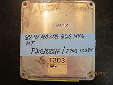 88 89 90 91 MAZDA 626 MX6 M/T ECU/ECM #F20318881F *see item description*