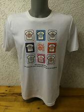 Herren T-Shirt Shirt Oberteil Gr. S M L XL weiß mit tollem Motiv *B-Ware*