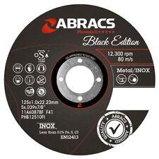 Abracs Extra Thin Metal Cutting Discs 115mm x 1mm Phoenix II Black Edition Inox