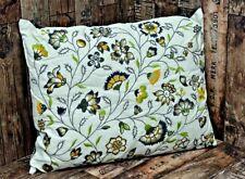 Floral Embroidered Cushion 50x60cm Rectangular Complete Cushion Home Sofa Decor