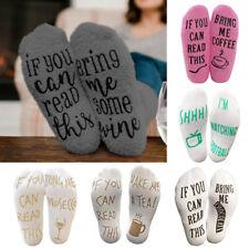 Women Men Warm Socks Plush Letter Print Hosiery Bring Me Wine Christmas Gifts