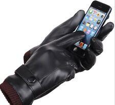 Women's Winter Warm Leather Touch Screen Gloves Motorcycle Men's Winter Gloves