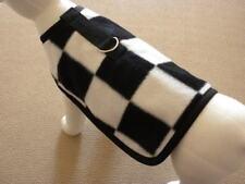 Nascar Racing Checkered Flag Fleece Dog Harness Coat
