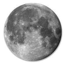 2 x 10cm Moon Vinyl Sticker Luggage Travel Tag Space Planets NASA Laptop #6233