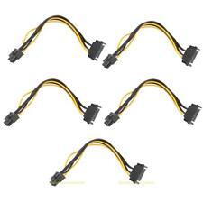 5x SATA Kabel 15Pin auf 6Pin PCI Express Stromkabel Grafikkarten Power Adapter