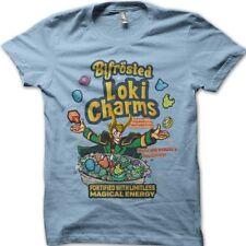 LOKI Charms Thor superhero antihero Asgard Bifrost light blue t-shirt 9804