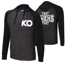 """WWE Kevin Owens """"KO Fight"""" UNISEX lightweight Raglan Full-Zip Hoodie Felpa"""