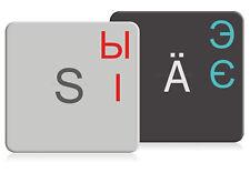 Ukrainische Tastaturaufkleber für MAC (14x14mm), transparent mit Schutzlack
