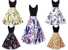 NEW Women XL & XXL Sleeveless BLACK Knee Length Retro ROCKABILLY Dress CHOICE