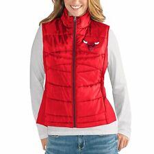 G-III 4her Chicago Bulls Women's Wing Back Jacket Vest - Red