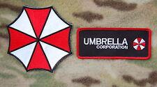 Resident Evil Umbrella Corporation  2 Patch Set Hook Backing