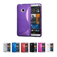 S Line Hülle für HTC One M7 Handy Tasche Silikon Bumper Case Cover Schutzhülle