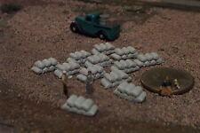 12 Stacks of cement, Sandbags N Scale Details grey
