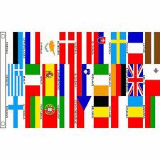 Eurovision European Country Bunting & Flags 5 x 3 FT - Large Flag EU UK Austria