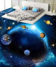 3D Blue Planet Star 2 Floor WallPaper Murals Wall Print Decal 5D AJ WALLPAPER