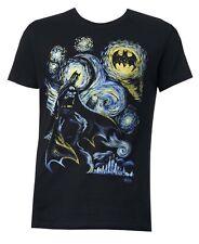 DC Comics Batman Starry Night Black Men's T-shirt New