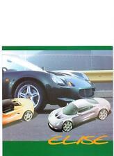 Lotus Elise folleto de ventas mid/late 90's Inglés e Italiano