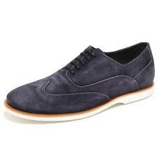 0386N francesina HOGAN scarpe uomo sneaker shoes men blu with vintange effect