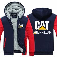 CAT Logo Hoodie Caterpillar Power Men Sweatshirt Thick Warm Coat Jacket Workwear