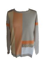 Damen Pullover Pulli mit Pailletten mehrfarbig Gr. 36 38 40 42 48 50
