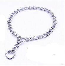 1.6/2/3/4MM 45/55/65CM Heavy Pet Dog Choker Collar Round Link Pet Check Chain