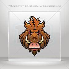Decal Stickers wild pig boar hog head Razorback Vehicle st7 22466