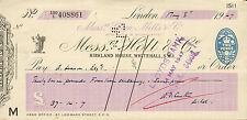 "Glynn.mills & CO "" & caos"" RS Holt & Co Whitehall London ""possono 8th 1947"