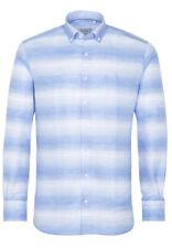 ETERNA Herren Langarm Leinen Hemd Modern Fit BD blau weiß Gestreift 3560.12.X673