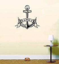 Family Anchor Wall Art Mural Room Decorative Nautical Sticker
