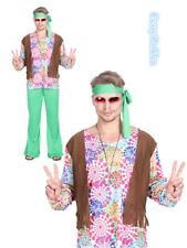 N3 Mens Peace Groovy 60s 70s Mens Hippie Retro Disco Hallowen Party Costume