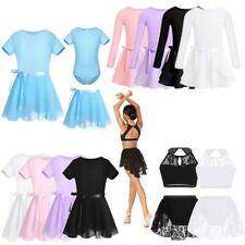 Girls Ballet Dance Dress Leotard Gymnastics Tutu Skirt Skate Dancewear Outfits