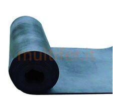 Lastra in gomma nera 2 - 3 - 4 - 5 mm. Altezza 150 cm. - pavimento gomma liscia