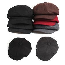 Unisex Mens Spiral Bakerboy Casual Flat Cap Newsboy Cabbie Gatsby Driver Hats
