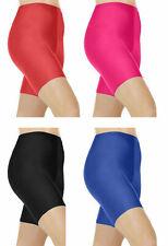 Girls Nylon Lycra Cycling Shorts Kids Children's School Gym Game Dance Hot Pants